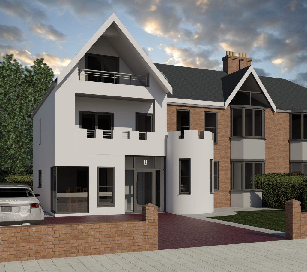 Seaburn Extension two storey planning permission Acre Design architect