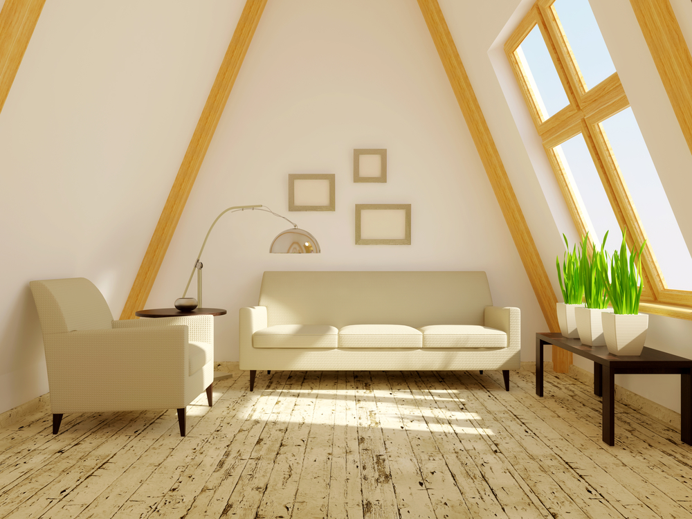 room  in the roof with wood decor