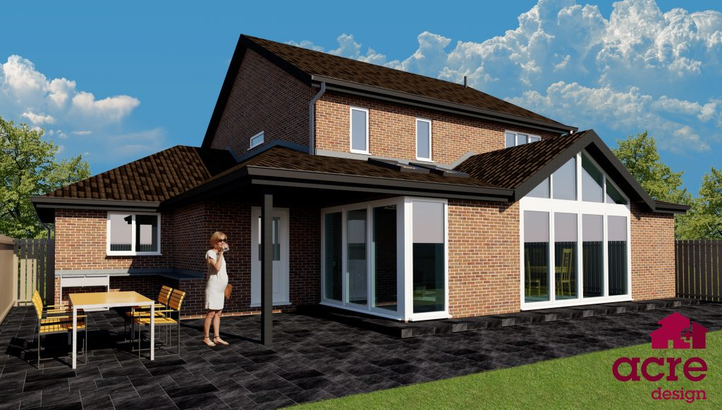 Single storey house extension in Gosforth, Newcastle