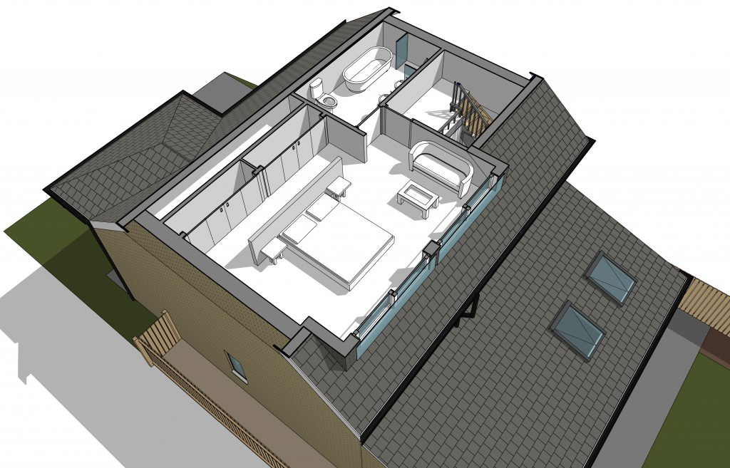 Loft conversion gosforth newcastle north east acre design architect